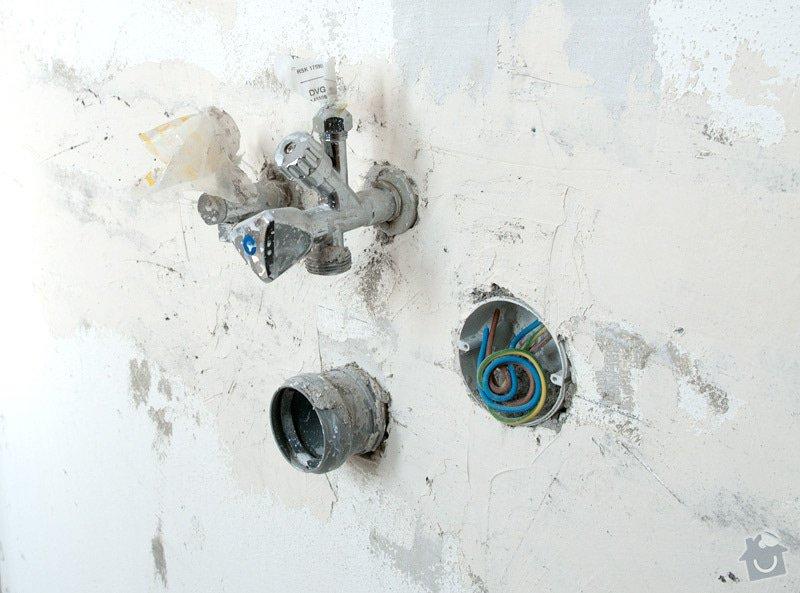Přesunutí plynového kohoutu, odpadu a vody: instalater2