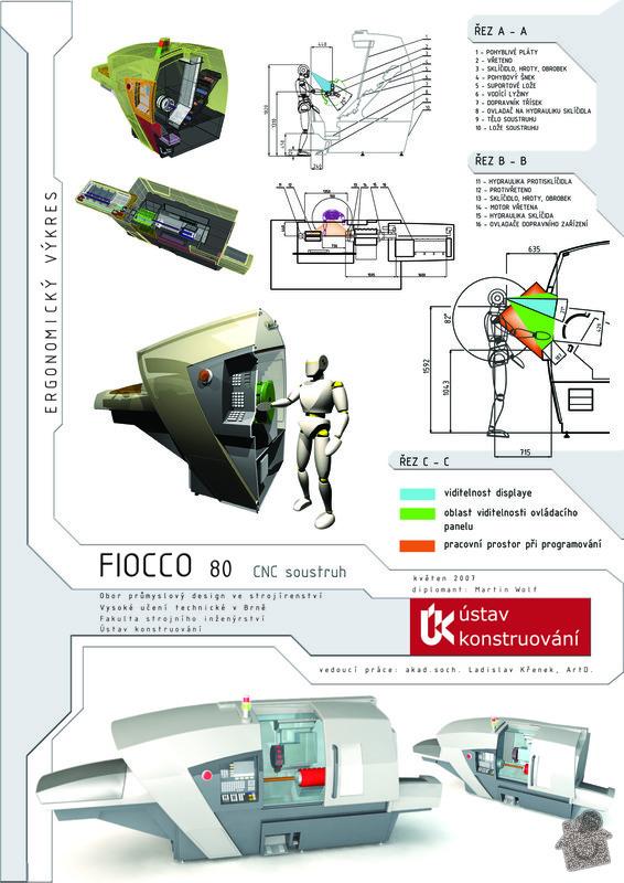 Design CNC soustruhu: D1ergonomicky