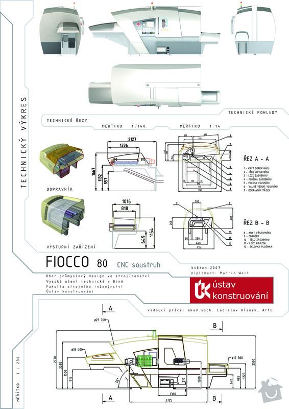 Design CNC soustruhu: D1technicky