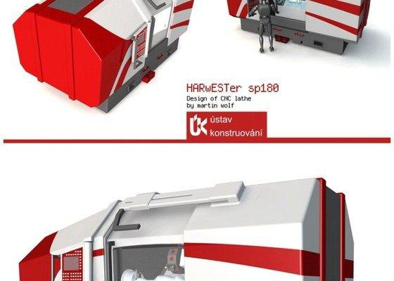 Design CNC soustruhu