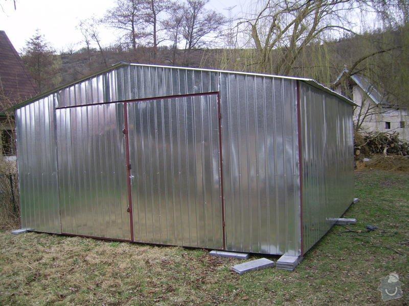 Plechová montovaná garáž: SSA40044