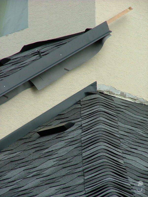 Oprava a dokončení střechy - pokrytí + klempířina: DSCF7059