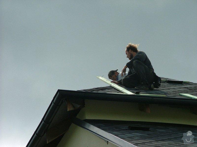 Oprava a dokončení střechy - pokrytí + klempířina: DSCF7073