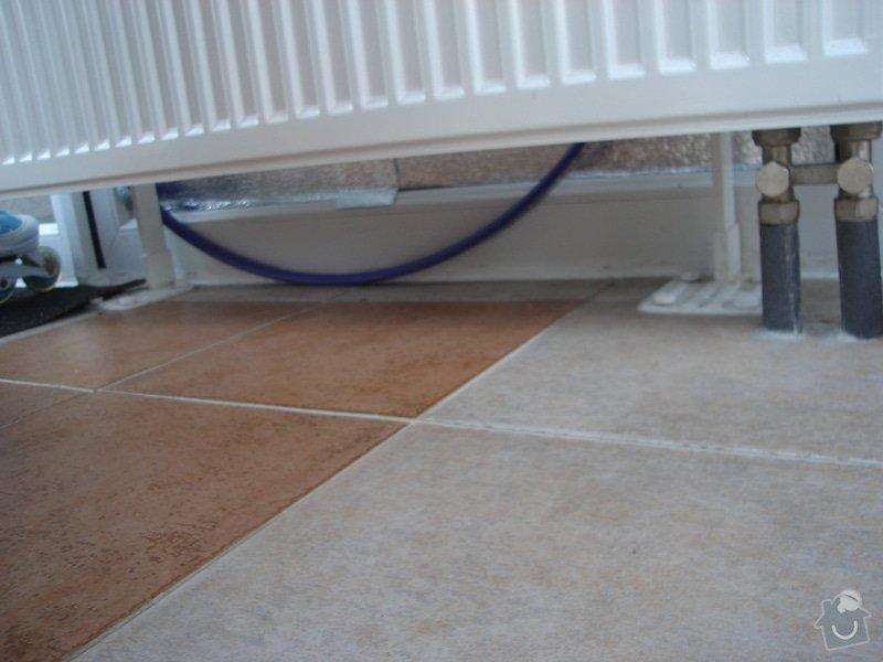 Teplovodní podlahové vytápění - Anhydritový potěr: DSC05429