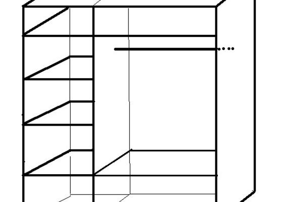 Vestavnou skřín š180cm v240cm