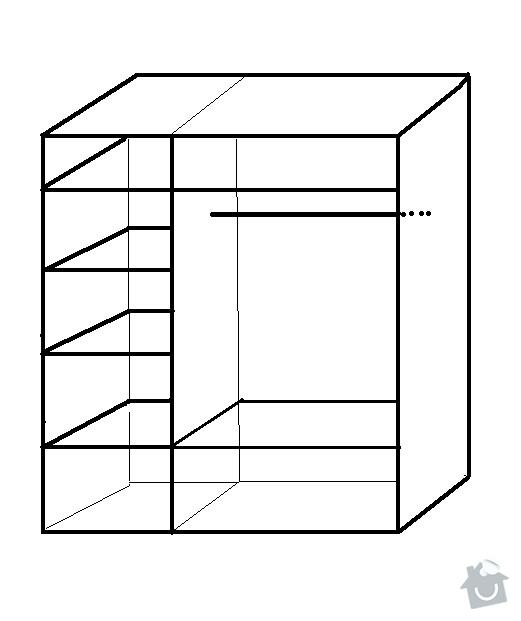 Vestavnou skřín š180cm v240cm: 812-Modern-S3-schema