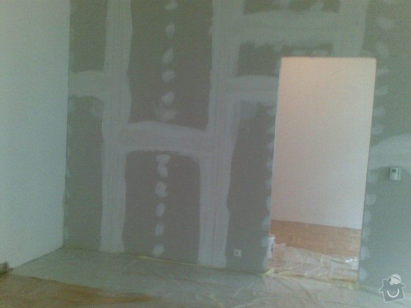 Montáž sádrokartonových příček, broušení a lakování parket: 21112010