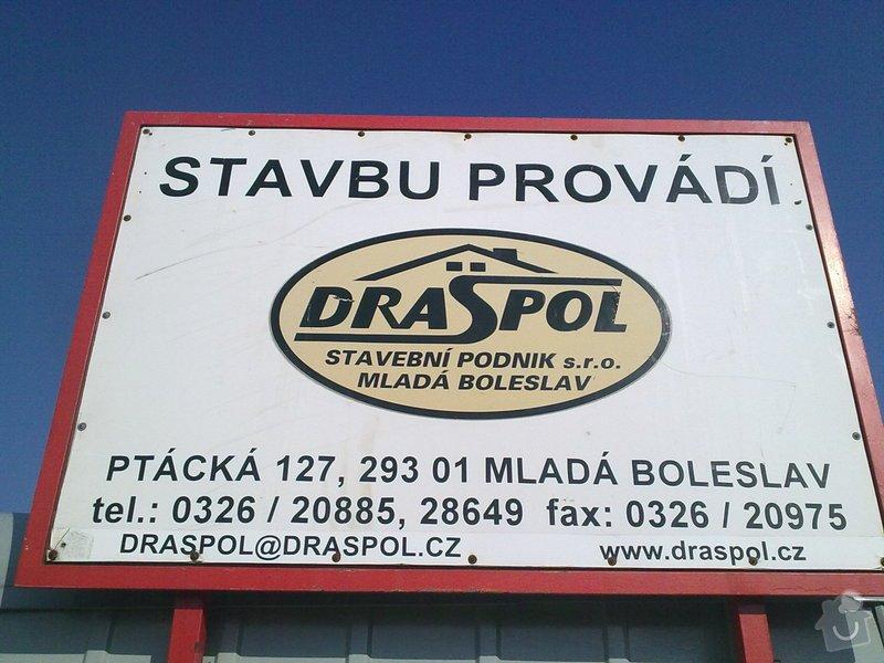 Dlouholetá spolupráce s firmou Draspol s.r.o. Mladá Boleslav: 09032011114