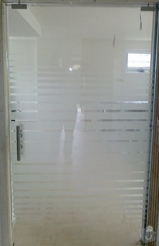 Montáž skleněné stěny a dveří: 07102010113