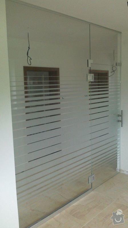 Montáž skleněné stěny a dveří: 07102010114