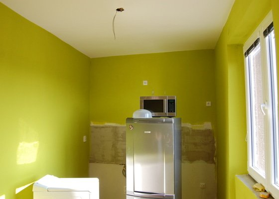 Štukování stěn a malování