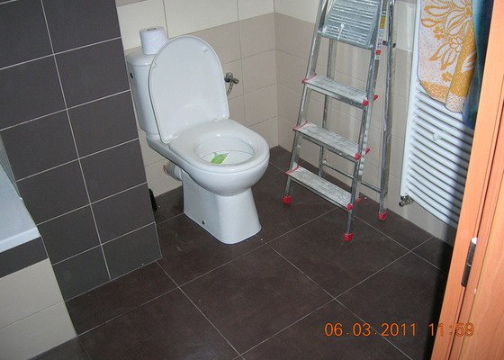 Montáž obkladu a dlažby,koupelna,WC,kuchyń a chodba