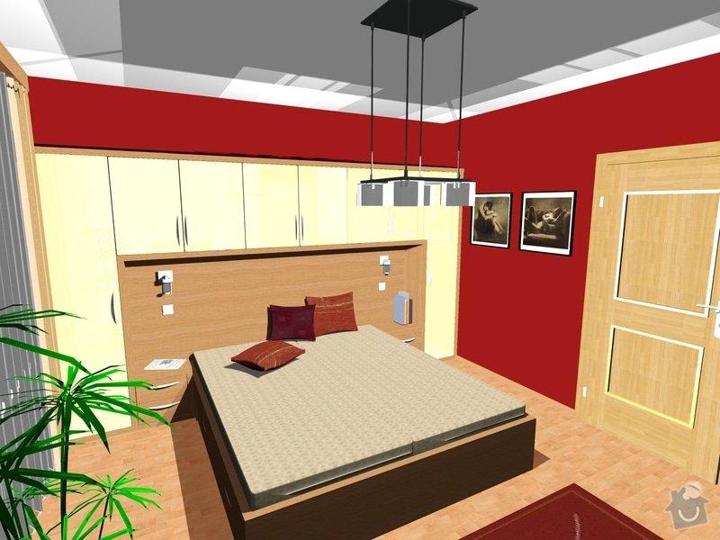 Návrh a realizace interiéru ložnice: 2