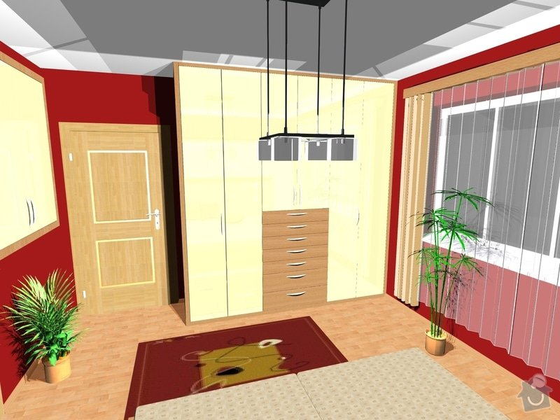 Návrh a realizace interiéru ložnice: 4