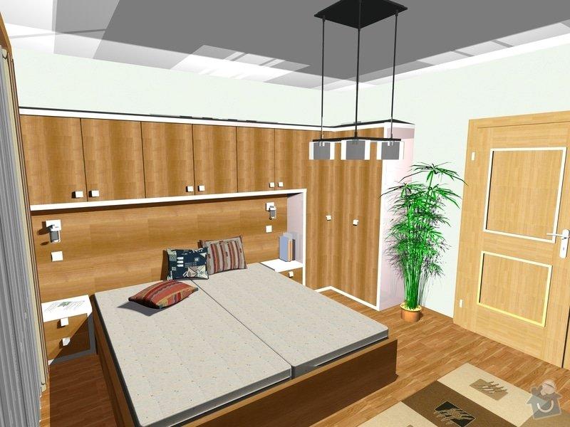 Návrh a realizace interiéru ložnice: 222