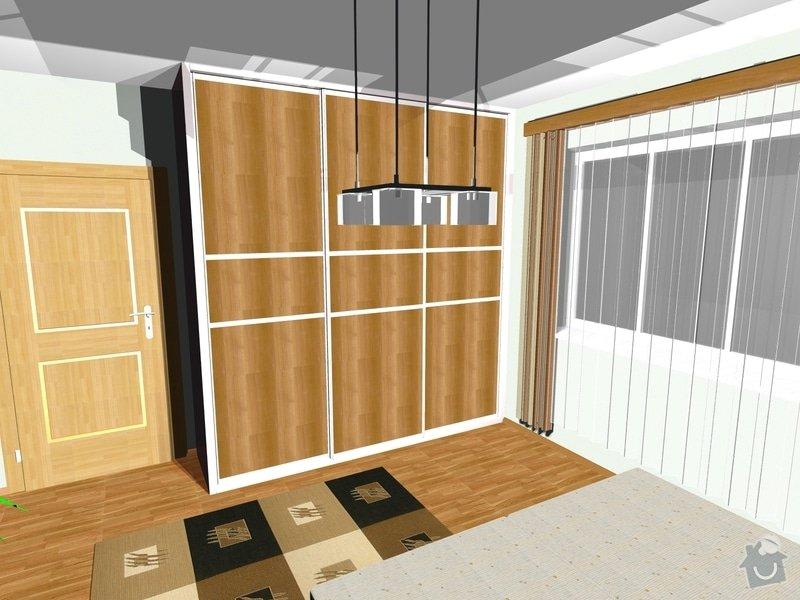 Návrh a realizace interiéru ložnice: 444