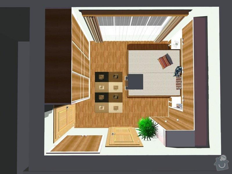 Návrh a realizace interiéru ložnice: 555