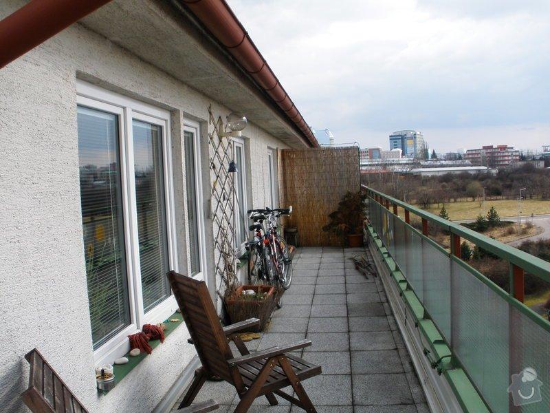 Zastřešení venkovní terasy hliníkovou konstrukcí: P3200088