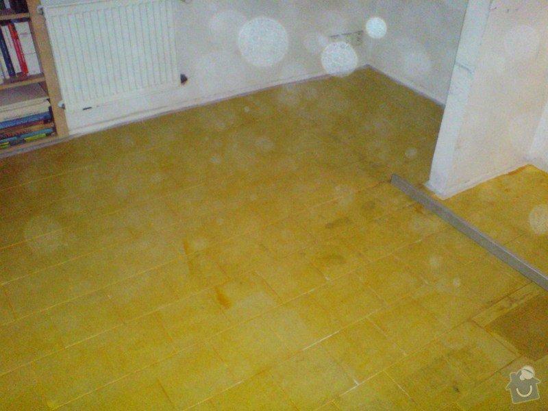 Pokládka laminátové podlahy: DSC01708