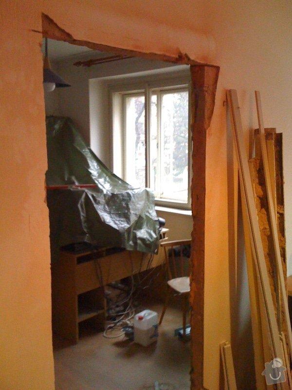 SDK příčka, vyříznutí dveří, obklad kuchyň : IMG_1291