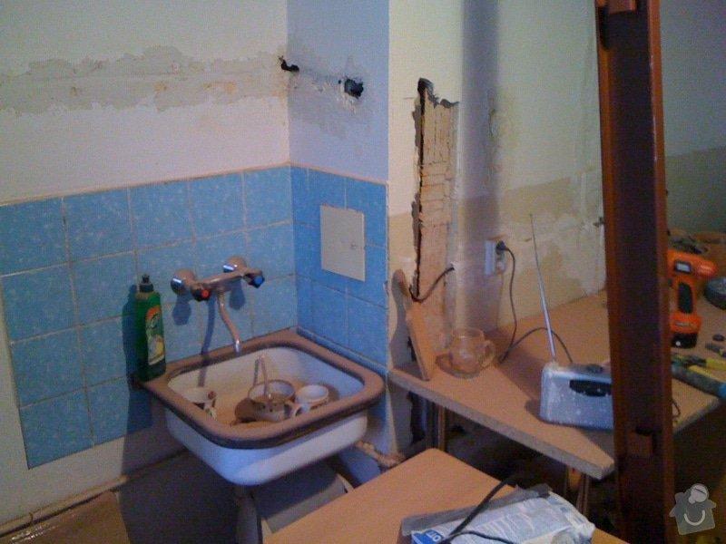SDK příčka, vyříznutí dveří, obklad kuchyň : IMG_1295