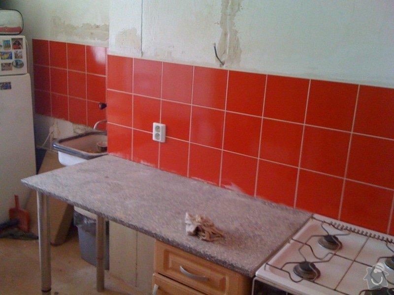 SDK příčka, vyříznutí dveří, obklad kuchyň : IMG_1302