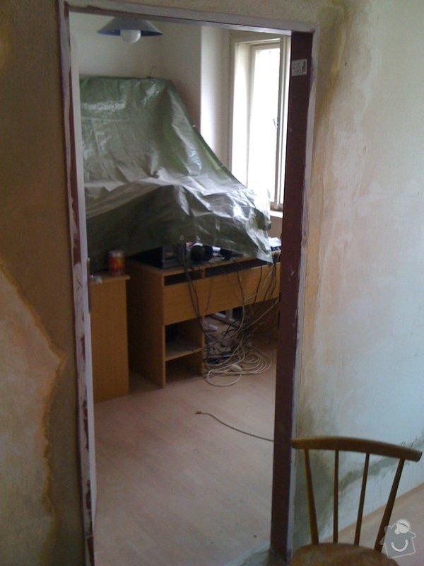 SDK příčka, vyříznutí dveří, obklad kuchyň : IMG_1303
