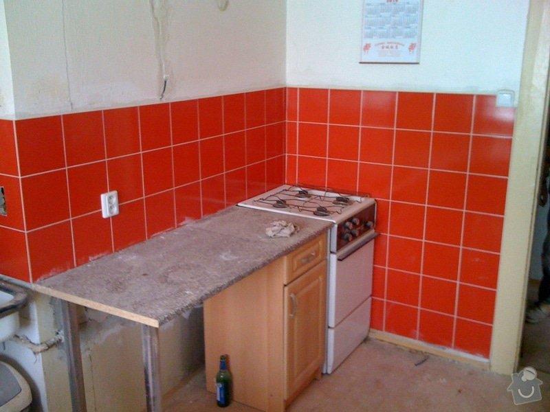 SDK příčka, vyříznutí dveří, obklad kuchyň : IMG_1304