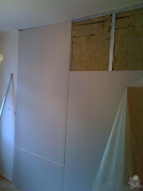 SDK příčka, vyříznutí dveří, obklad kuchyň : IMG_1287