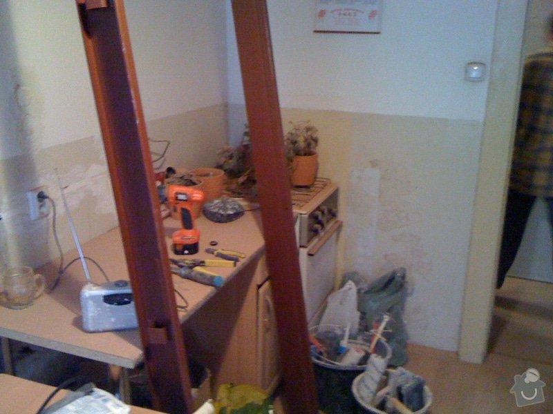 SDK příčka, vyříznutí dveří, obklad kuchyň : IMG_1296