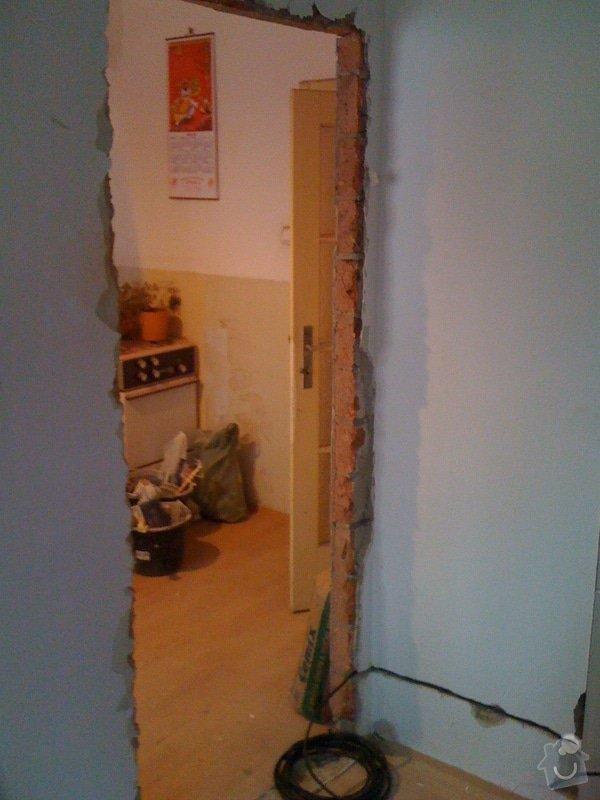 SDK příčka, vyříznutí dveří, obklad kuchyň : IMG_1298