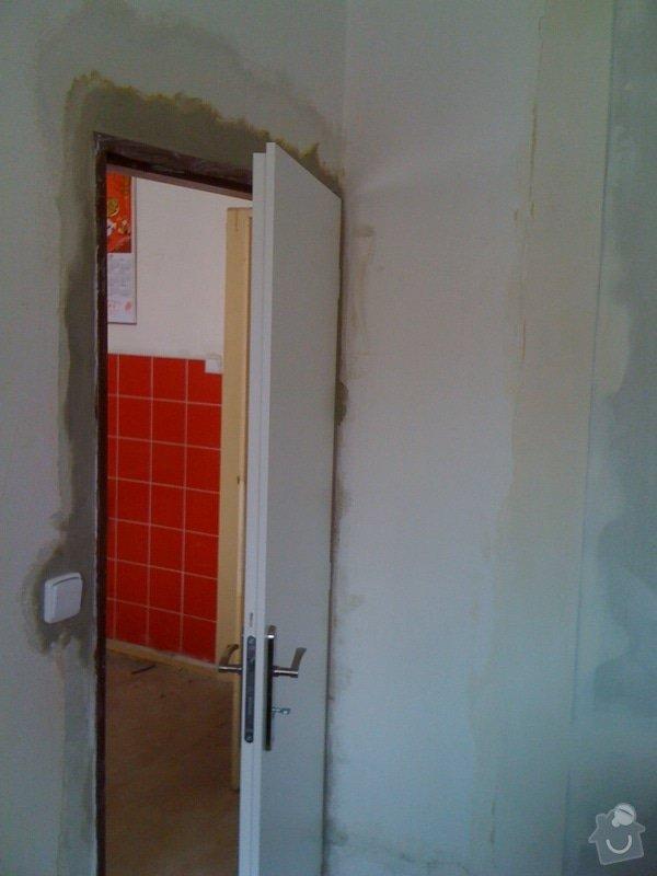 SDK příčka, vyříznutí dveří, obklad kuchyň : IMG_1307