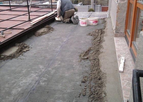 Oprava TERASY, položení izolace, betonu a dlažby