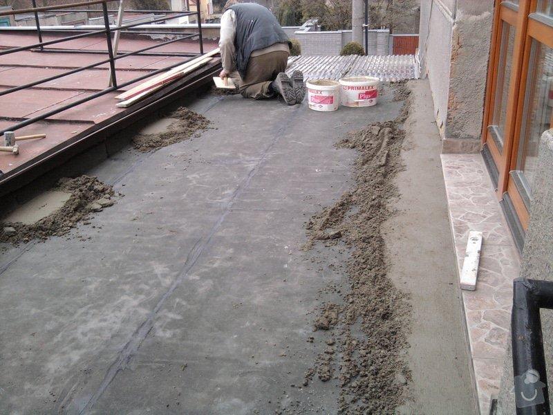 Oprava TERASY, položení izolace, betonu a dlažby: Fotografie0590