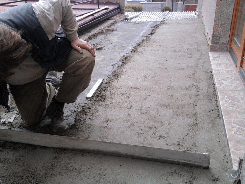 Oprava TERASY, položení izolace, betonu a dlažby: Fotografie0593