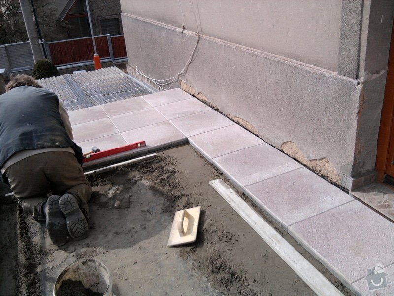 Oprava TERASY, položení izolace, betonu a dlažby: Fotografie0598