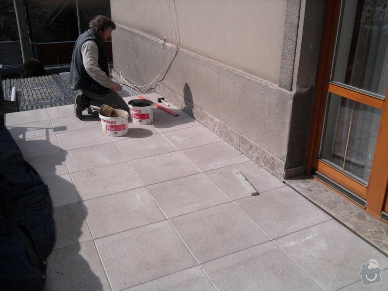 Oprava TERASY, položení izolace, betonu a dlažby: Fotografie0600