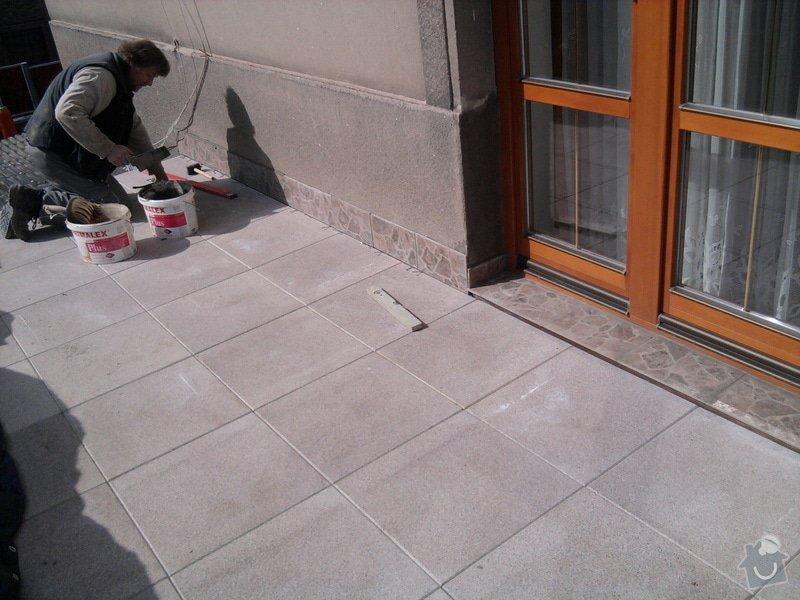 Oprava TERASY, položení izolace, betonu a dlažby: Fotografie0601