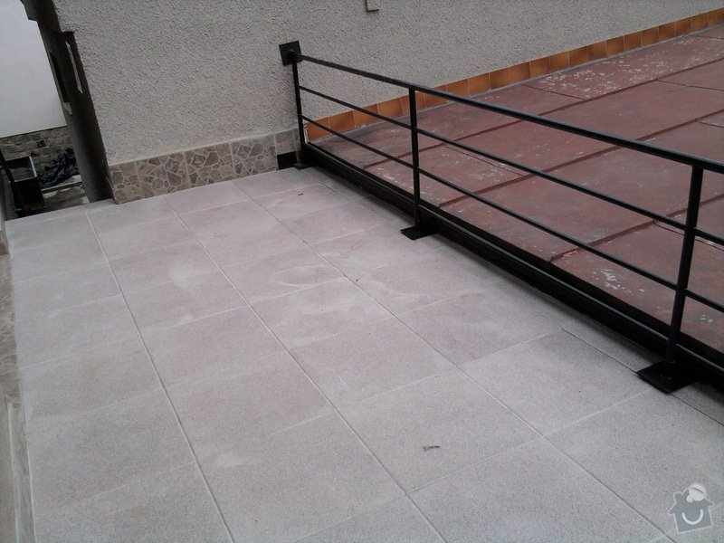 Oprava TERASY, položení izolace, betonu a dlažby: Fotografie0613