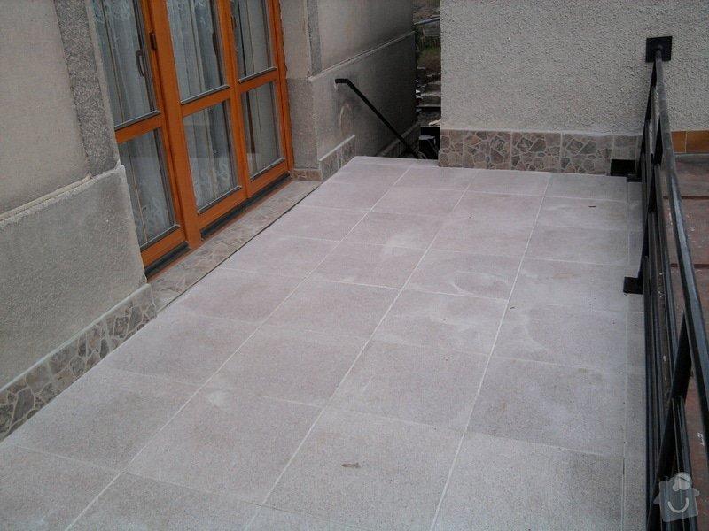 Oprava TERASY, položení izolace, betonu a dlažby: Fotografie0614