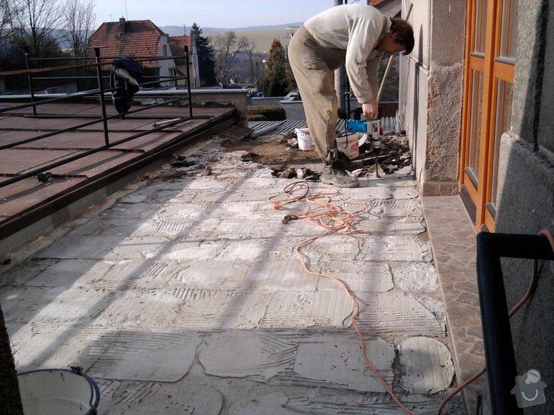 Oprava TERASY, položení izolace, betonu a dlažby: Fotografie0581
