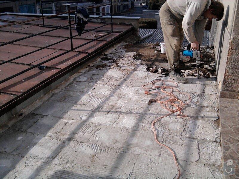 Oprava TERASY, položení izolace, betonu a dlažby: Fotografie0582