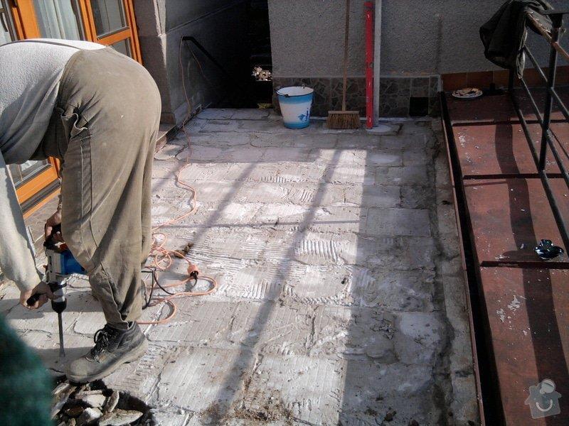 Oprava TERASY, položení izolace, betonu a dlažby: Fotografie0583