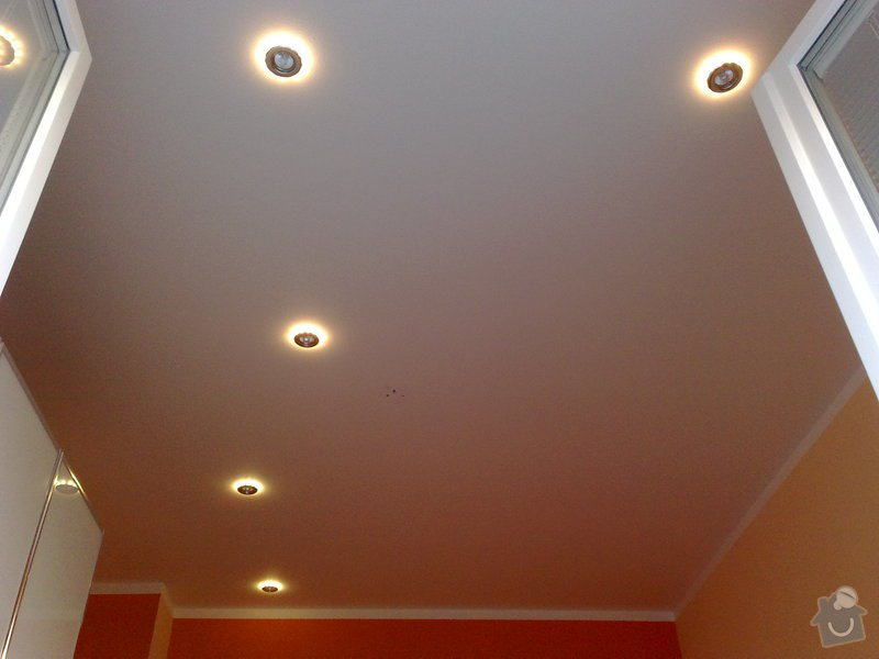 Montáž bodového osvětlení do podhledu SDK: 001_4_