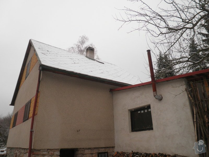 Oprava střechy - chata cca90m2: PB280428