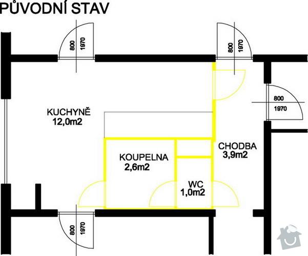 Rekonstrukce jádra panelového bytu: bj_puv-strav
