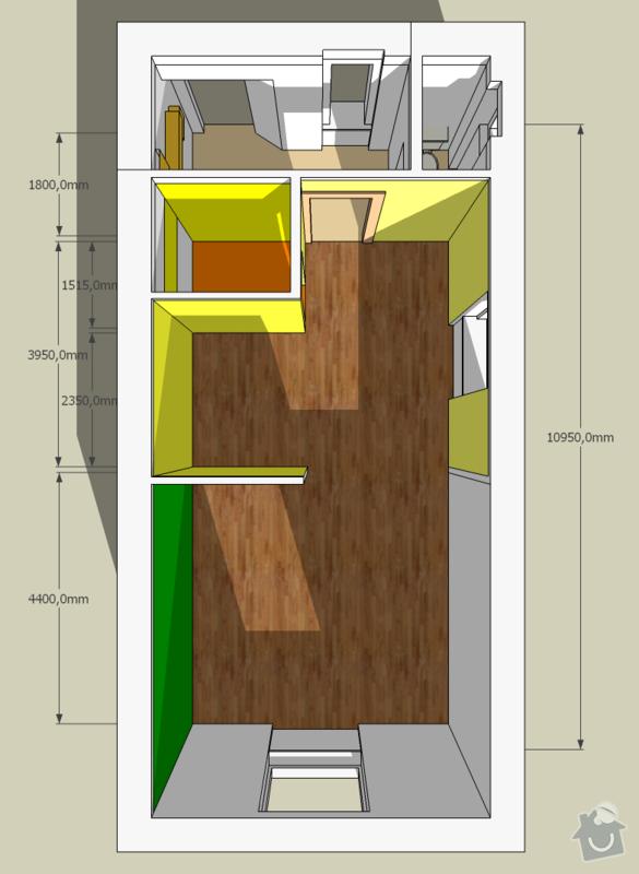 Štuky + Malířské práce (byt 1+kk, 45m): top_view