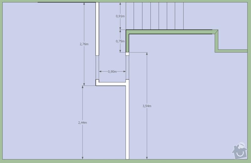 Stavba sádrokartónové příčky: pudorys