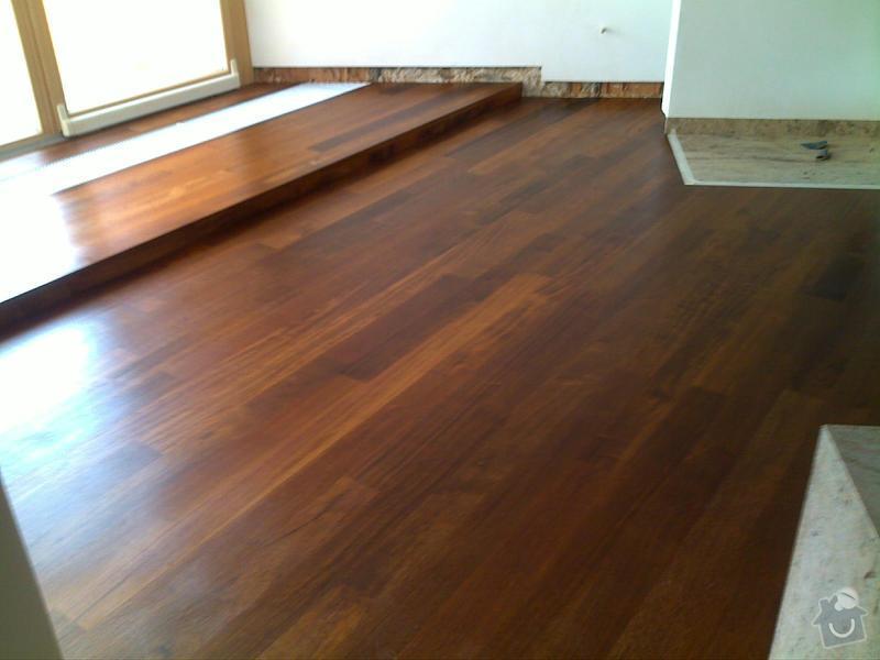 Pokládka masivních prken Merbau20x140,180cm mix.+povrchová úprava olej vosk.: 25062009078