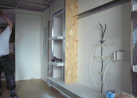 Rekonstrukce obývacího pokoje a kuchyně